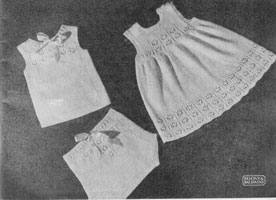 vinage baby undies matchin layette 1940s knitting pattern