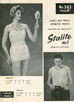 vintage knitting pattern for ladies vest knitting patterns