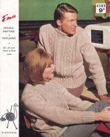vintage aran knitting pattern from 1960