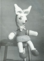 vintage rabbit toy knitting pattern