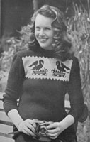 stars in wool booklet knitting pattern from 1940s fair isle designs