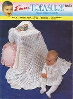 vintage knitting pattern for dress and shawl