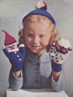 vintage childs gloves and puppets