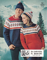 vintage knitting pattern for fair isle jumpers