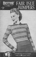vintage fair isle knitting patterns for ladies