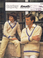 vintage cricket sweater mens 1981