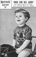 vintage baby fair isle jumper knitting pattern 1940s bestway 2039