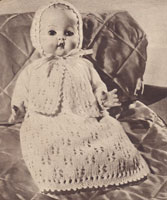 baby doll knitting pattern 1950