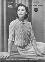 vintage bed jacket knitting pattern 1940s