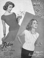 vintage ladies knitting pattern summer 1950