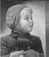 vintage hat knitting pattern for child