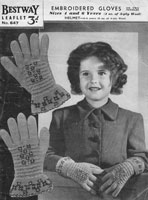 vintage childs hat and gloves knitting patterns