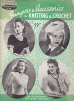 vintage ladies knitting crochet patterns 1940s