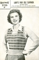 ladies vintage fair isle knitting patterns