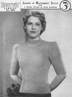 vintage ladies jumper knitting patterns 1930s