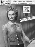 bestway ladies cardigan 1930s