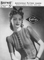 vintage ladies cardigan pattern 1930