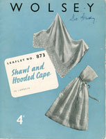 vintage knitting pattern for shawl and cape