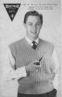vintage 1940s mens jumper vintage knitting pattern