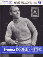 vintage mans jumper knitting pattern 1930