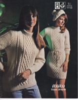 vintage aran dress and hat knitting patterns