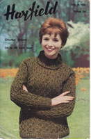 vintage knitting pattern for aran jumper for ladies