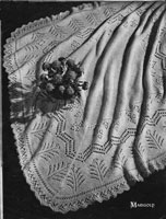 vintage baby knitting pattern for a shawl