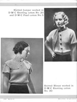 vintage 1920s cotton jumper knitting patterns