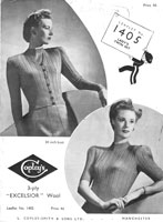 vintage copleys ladies knitting pattern for twinset 1940s