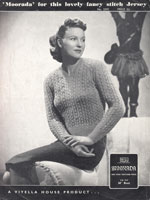 ladies viyella jumper knitting pattern from 1930s viyella 2397