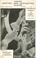 vintage cottonglove knitting pattern