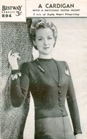 vintage cardigan knitting pattern for lady