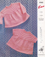 vintage knitting pattern babies dresses