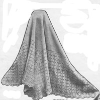 vintage baby shawl knitting pattern 1920