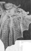 vintage knitting pattern for baby shawl
