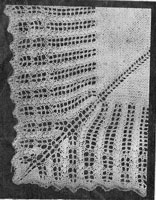 vintage shawl knitting patterns