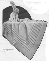 vintage knitting pattern for baby shawl 1920