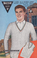 vintage knitting pattern for mens cricket jumper 1950s