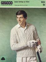 vintage knitting pattern for mens cricket jumper 1960s