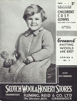 vintage childs dressing gown knitting pattern 1920s