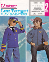 vintage 1970s boys jumper jcket in air force style knitting pattern