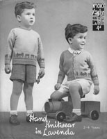 vintag bopys jumper knitting pattern with trains picture knit 1940s