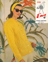 vintage aran knitting pattern for ladies cardigan