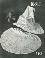vintage shawl knitting pattern