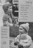 vintage childs heat and scarf knitting patterns 1950s