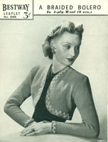 vintage ladies bolero knitting patterns