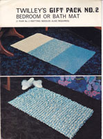 vintage knittng pattern for bath rug