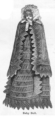 victorian baby doll ensemble knitting pattern 1890s