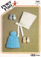 vintage peter pan p365 vintage knitting pattern for baby hats