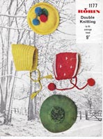 vintage robin 1177 childrens hat knitting pattern vintage 1960